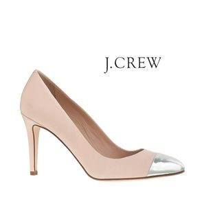 J. Crew Sloane Cap Toe Pumps In Natural